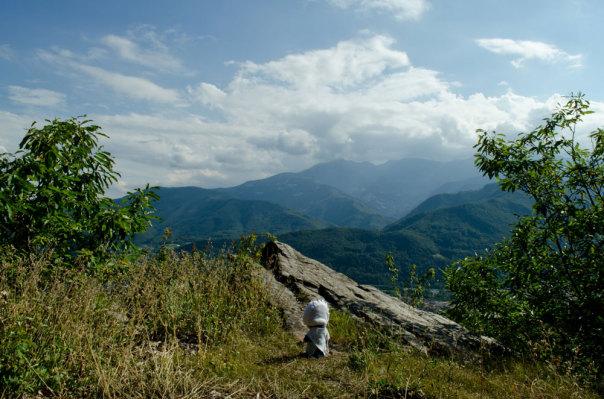 Le montagne della Val Pellice viste da Rocciamaneoud