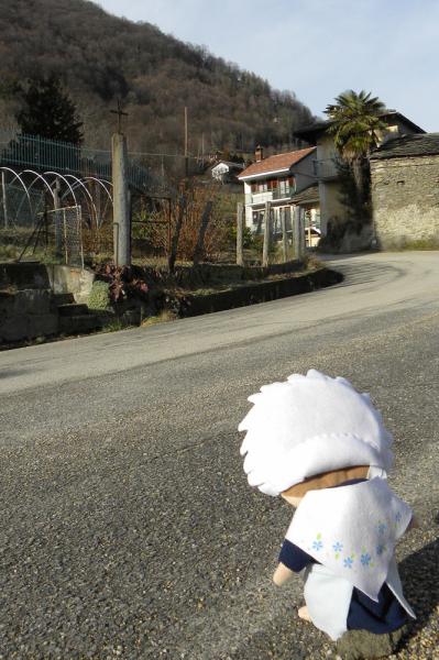 Eccomi vicino alla croce del maiale dei Germanet