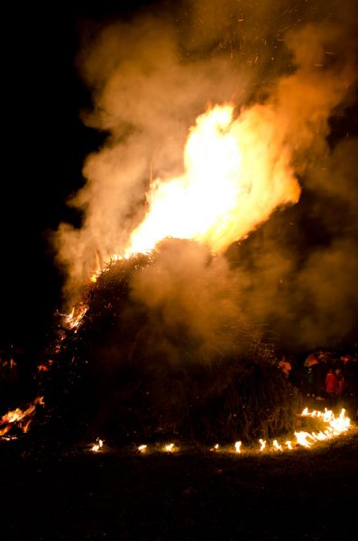 """The bonfire, called """"freedom pyre"""", symbolizes the harmony between different cultures and different faiths"""