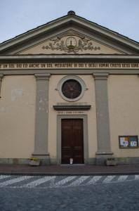 L'ingresso del tempio oggi è sulla strada