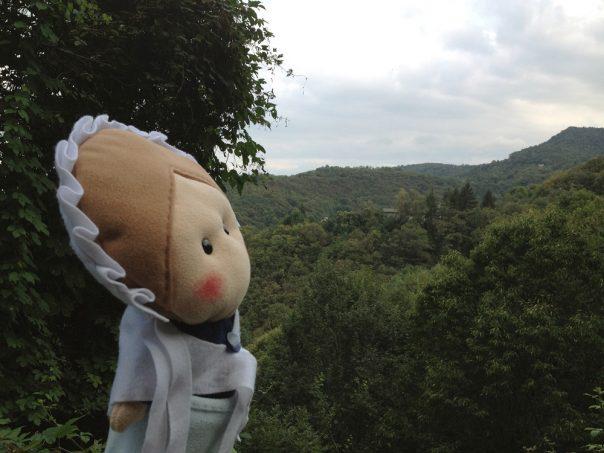 Vedete quei tetti in mezzo ai boschi? Lì c'è la borgata Lioudera