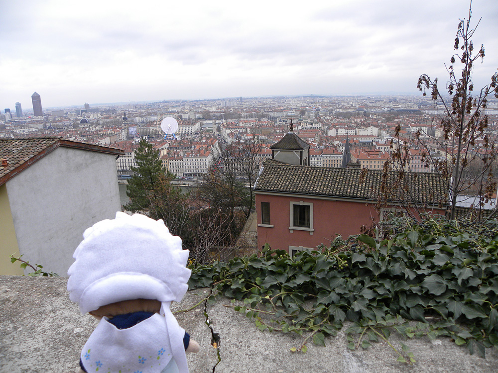 Dalla collina della Vieux Lyon si vede un panorama mozzafiato di tutta la città.