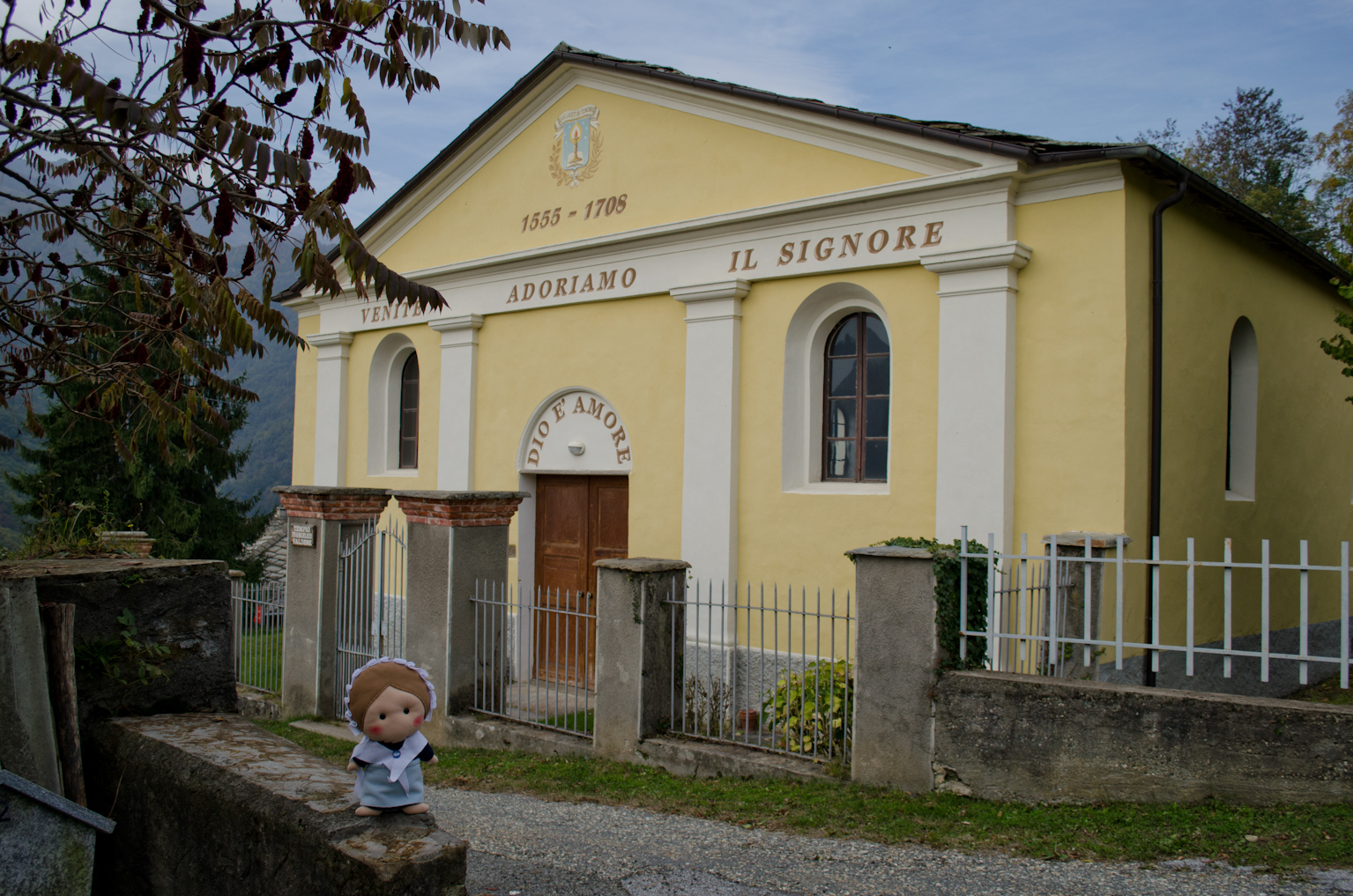 Here I am in San Lorenzo, the administrative centre of Angrogna!