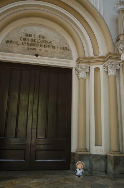 L'ingresso del tempio valdese