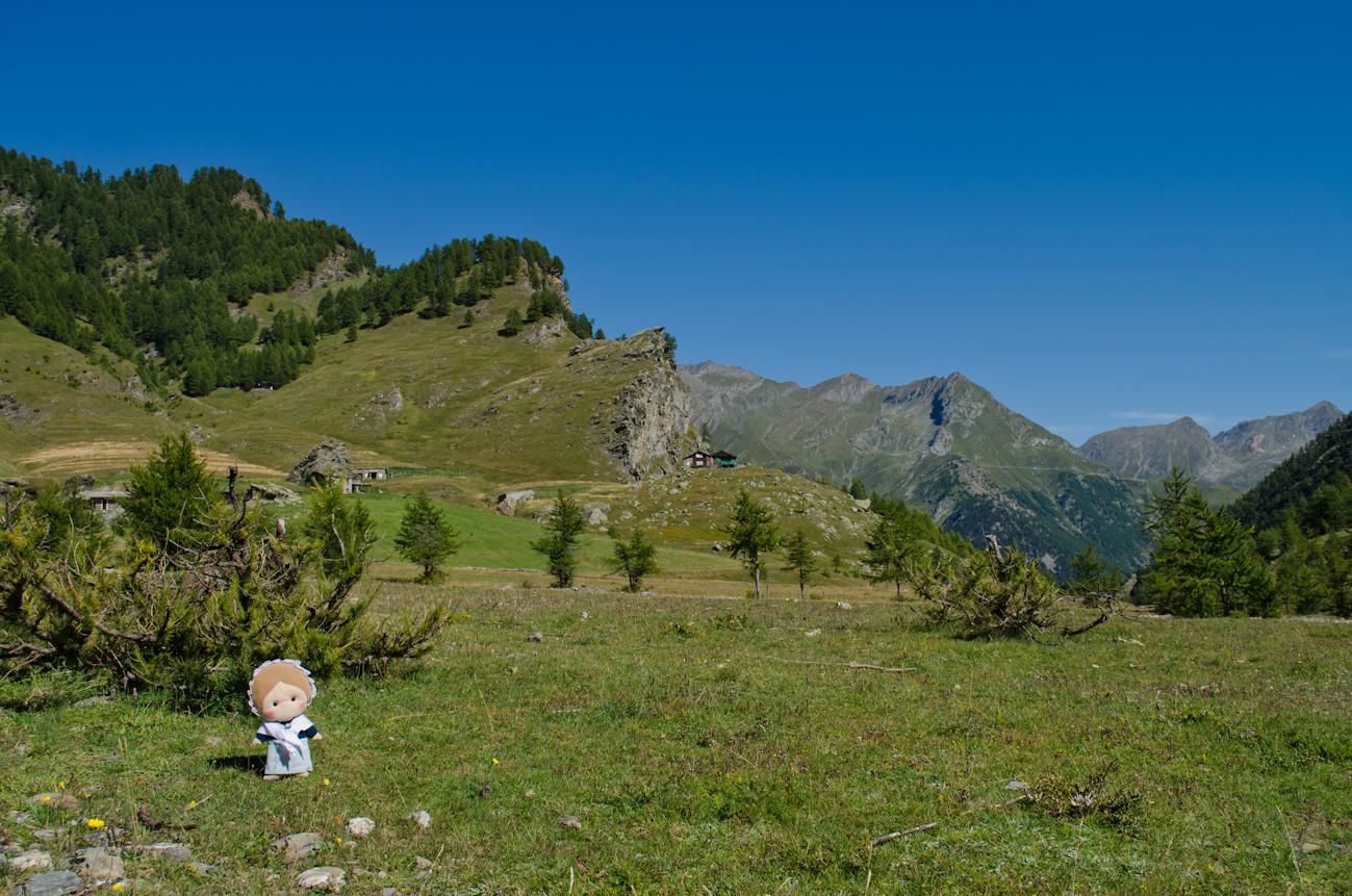 La Conca del Pra a Bobbio Pellice lungo le mulattiere di montagna che dal Pinerolese conducono in Francia.