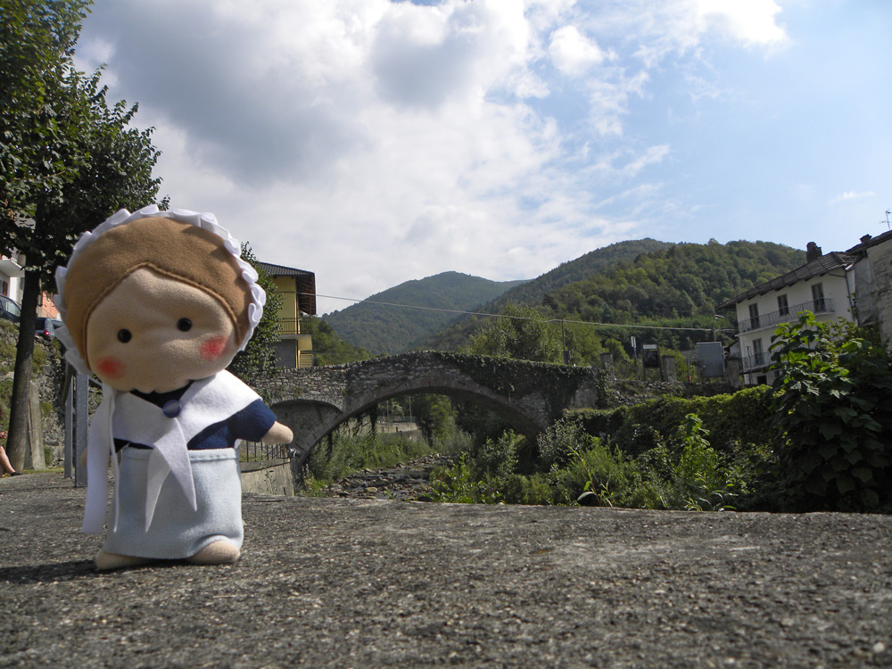 Eccomi al Ponte Annibale, nel comune di Pinasca.