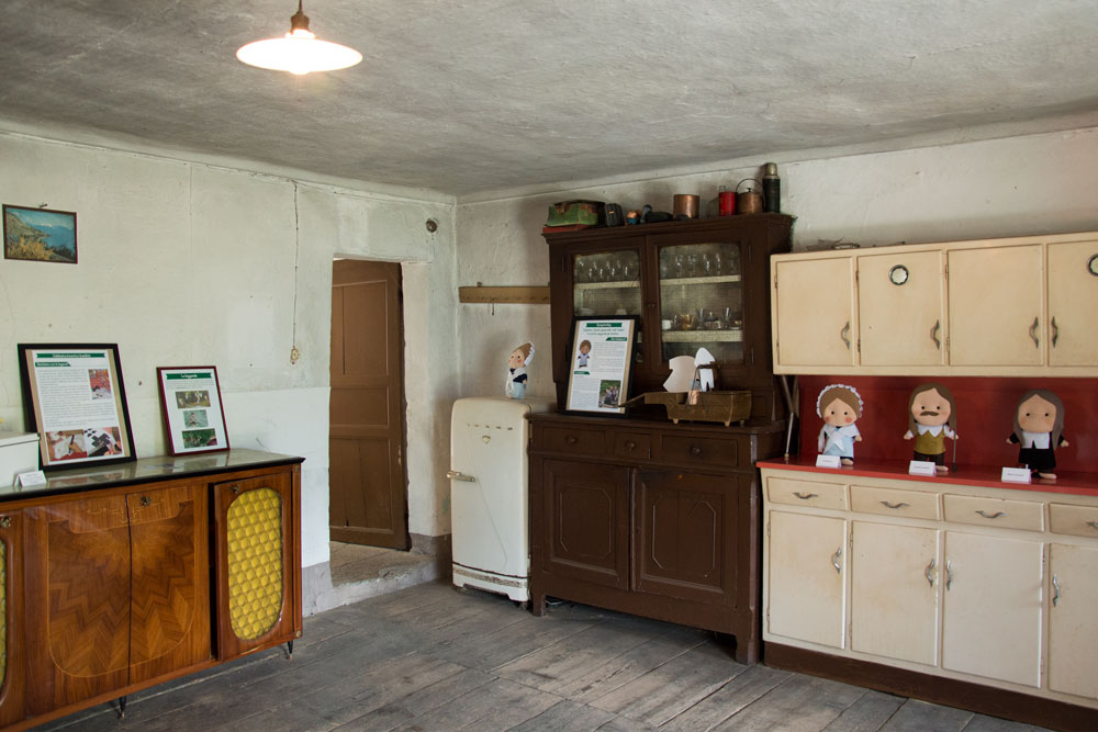 La stanza dell'allestimento era la stanza in cui, nell'epoca della locanda, ci si trovava per ballare.